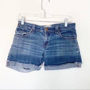ROXY denim shorts folded hem